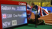 Mo Farah breaks one-hour world record at Brussels Diamond League