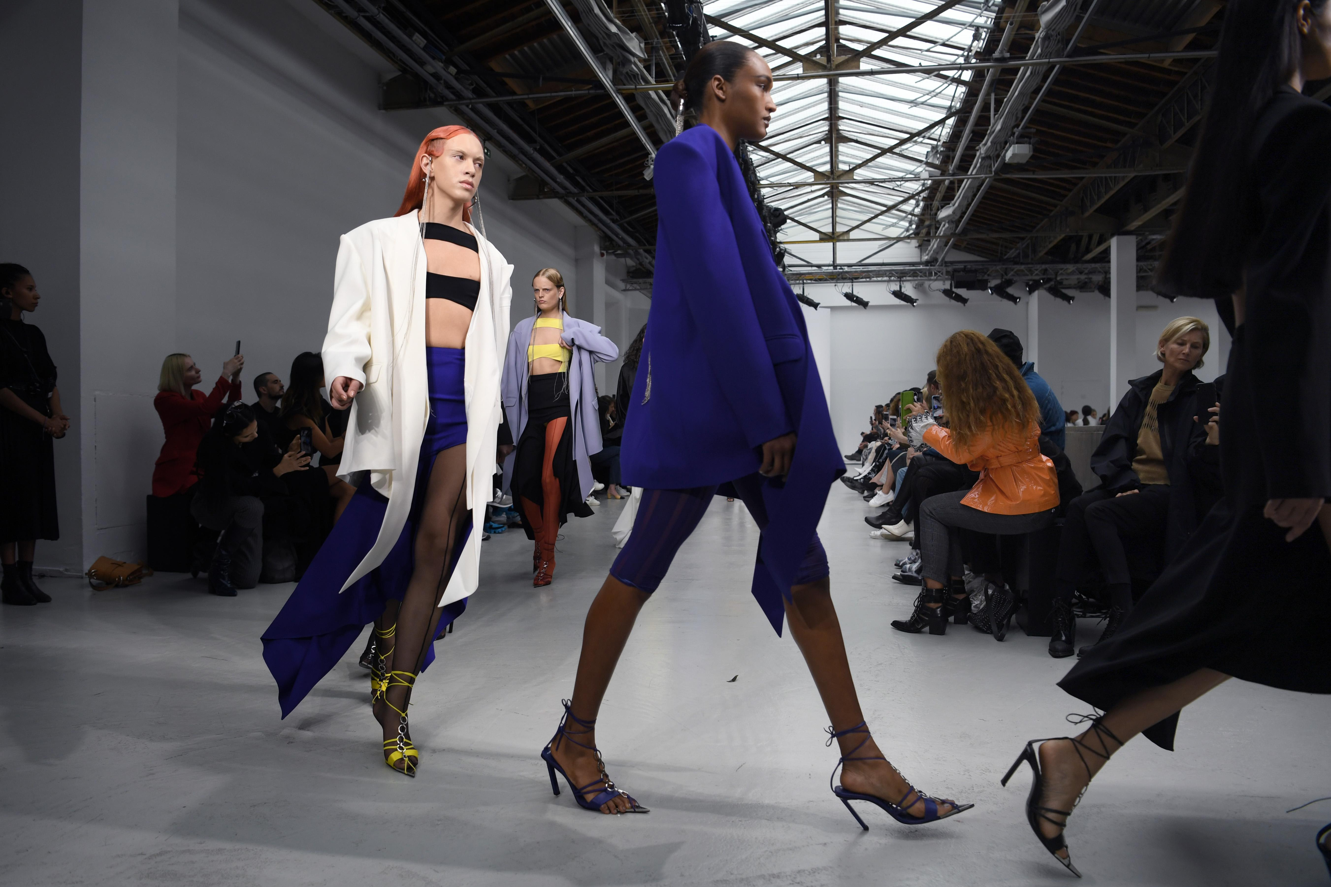 Asymmetric and sexy by Mugler in its 2020 spring-summer collection. Paris, September 25, 2019.