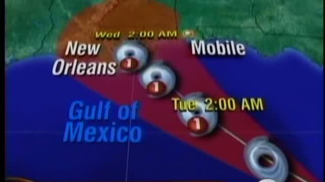 Tropical Storm Isaac moves into the Gulf