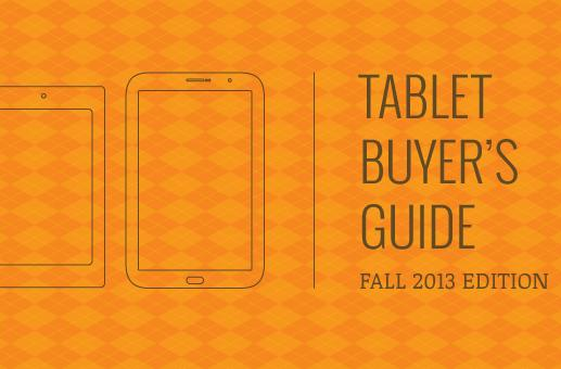 Engadget's tablet buyer's guide: fall 2013 edition