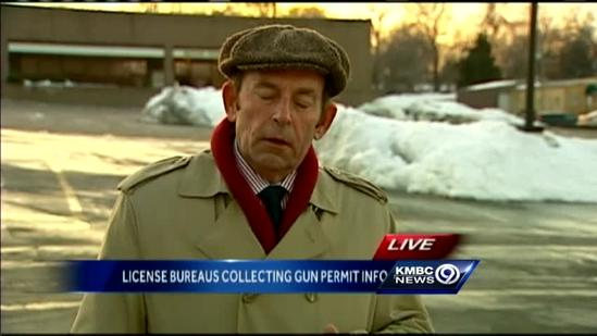 Mo. license bureaus collect gun applicant data