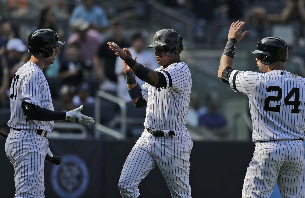 The Yankees still have control of the first wild-card spot. (AP)