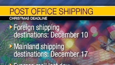 Post Office Package Deadlines, Part 2