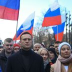 Alexey Navalny detained after landing back in Moscow