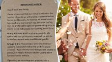 'Rude' coronavirus wedding invite ranks guests in shock move