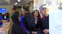 Tim Cook makes a surprising visit to an Apple Store on launch day