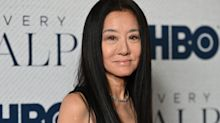 Designer Vera Wang shows off her youthful figure in a sports bra on her 71st birthday