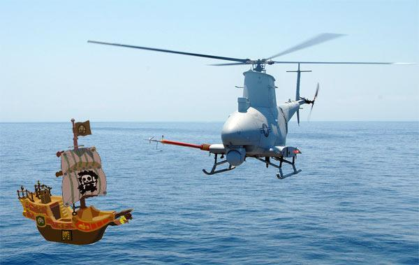 US Navy Fire Scouts will automatically spot pirates, give 30 seconds to comply