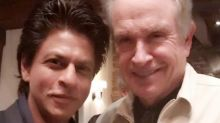 Shah Rukh Khan poses with legendary Hollywood actor Warren Beatty