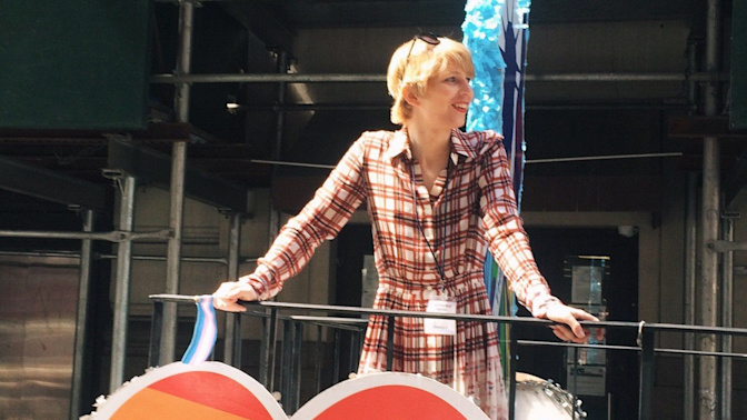 Chelsea Manning attends New York gay pride parade amid protests against Donald Trump