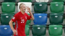 Haaland scores twice as Norway hammer Northern Ireland