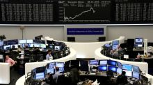 Stocks scale records, oil dips as investors hail easing of Mideast tensions
