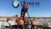 Cyprium Metals Ltd (CYM.AX) Nanadie Well 180m Sulphide Ore Grade Cu Intercept from 10m