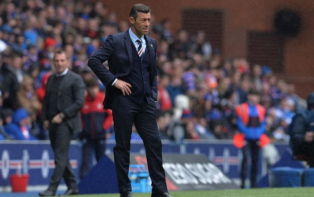 Pedro Caixinha looks on during Saturday's Old Firm derby  - Getty Images Europe