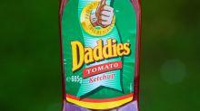 Toddler left covered in 'burn marks' after spilling Daddies ketchup on herself
