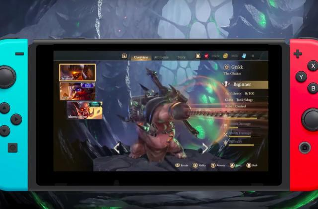 'Arena of Valor' is a completely different game on Switch