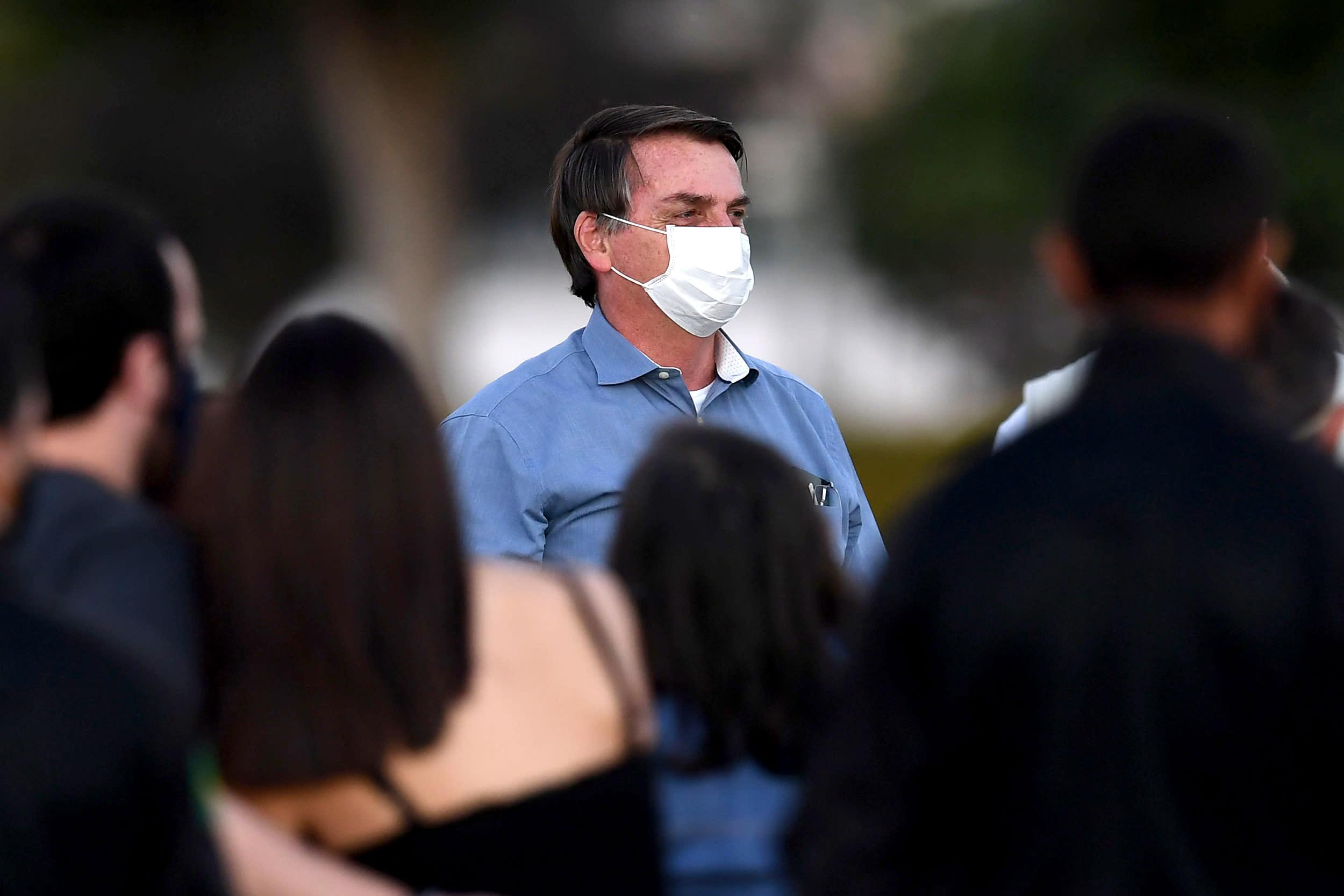 Brazil's President Bolsonaro says he tested negative for coronavirus