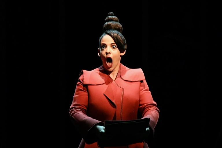 Image: American-Israeli opera singer Gan-ya Ben-gur Akselrod plays Nourit in the new opera (AFP Photo/Boris HORVAT)