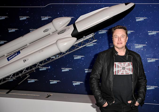 BERLIN, GERMANY DECEMBER 01:  SpaceX owner and Tesla CEO Elon Musk poses on the red carpet of the Axel Springer Award 2020 on December 01, 2020 in Berlin, Germany.  (Photo by Britta Pedersen-Pool/Getty Images)