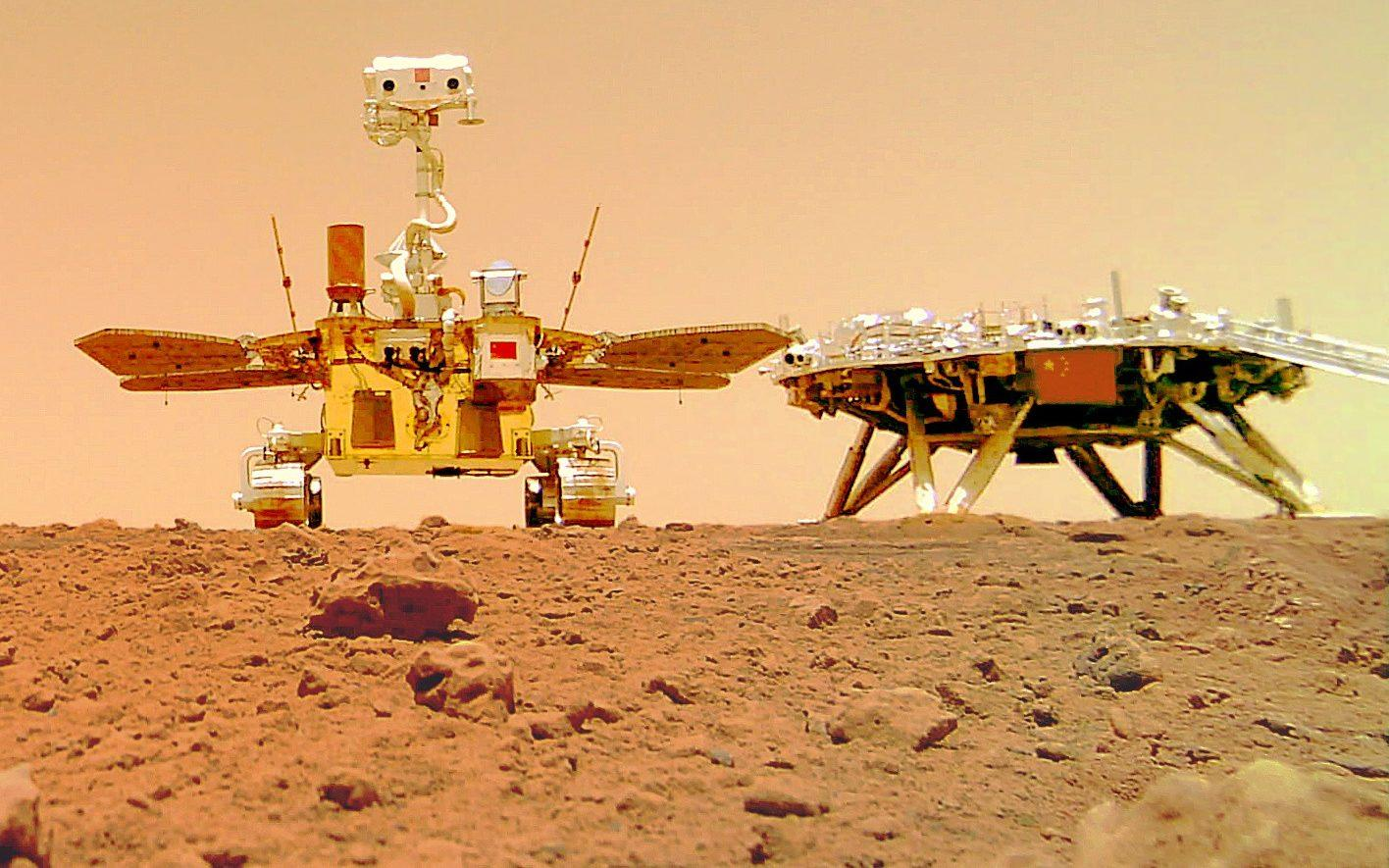 First pictures of Chinese rover and lander on surface of Mars released