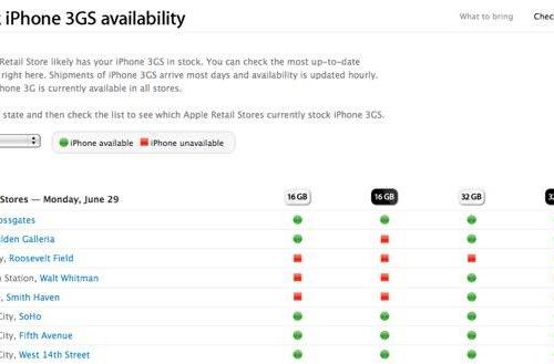 Apple's new online tool lets you check iPhone 3GS availability from the comfort of your own home