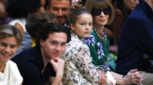 Victoria Beckham's 8-year-old daughter, Harper, stole the show at London Fashion Week