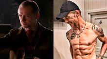 Simon Pegg estrena músculos y abdominales con un cambio radical extremo
