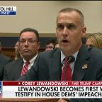 Corey Lewandowski becomes first witness to testify in House Democrats' impeachment probe