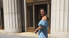 This $60 blue off-the-shoulder dress from Zara has gone viral because everyone is wearing it