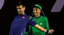 Djokovic had an odd mid-match request for a ballkid