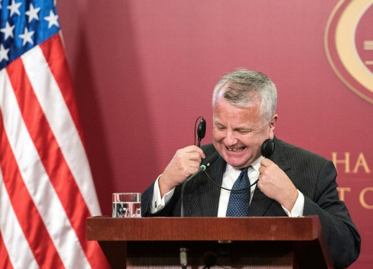 Deputy Secretary of State John Sullivan, seen here on a December 2018 visit to North Macedonia, has been nominated as US ambassador to Russia