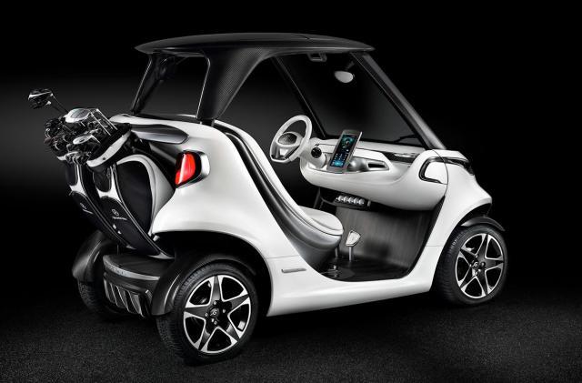 Mercedes-Benz made a high-tech golf cart inspired by sports cars