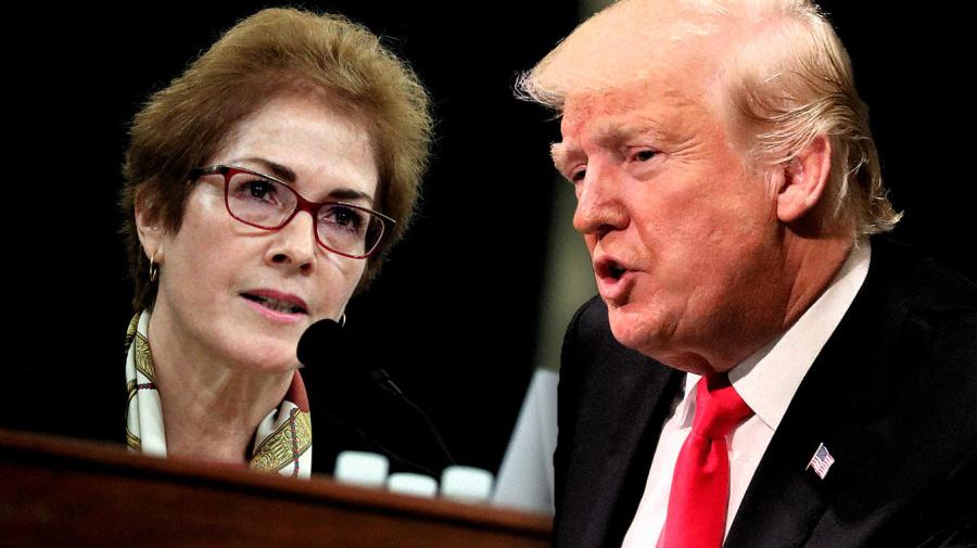 Trump slams diplomat while she testifies in inquiry