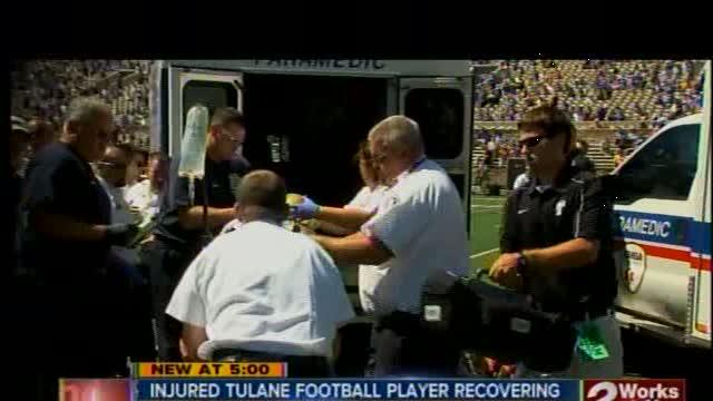 Tulane football player suffers spinal injury