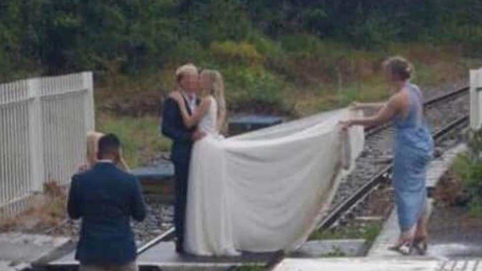 'Plain stupidity': Couple shamed for wedding photo stunt