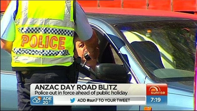 Police on Anzac roads blitz