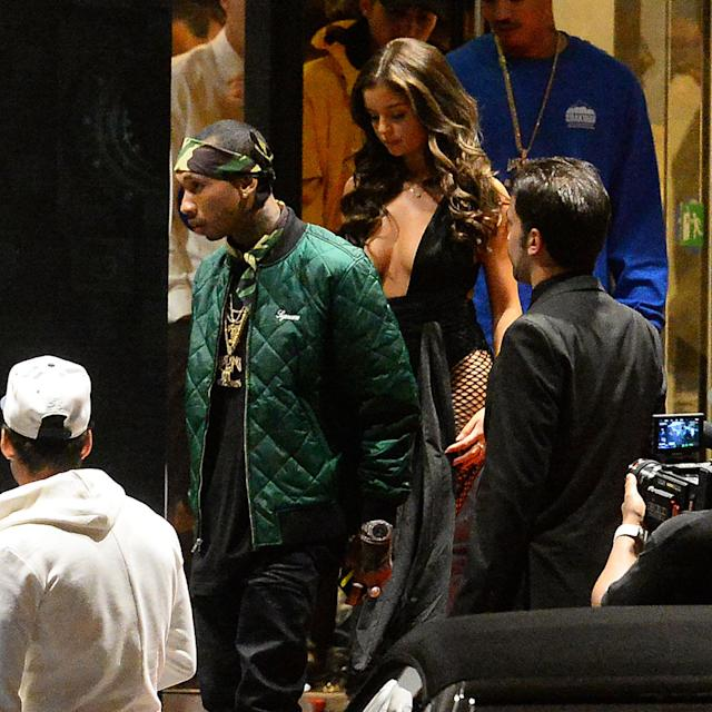 Tyga Moves On F-rom Kylie Jenner With Underwear Model Demi Rose