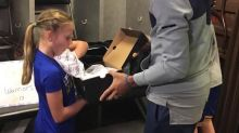 Steph Curry meets 9-year-old girl who lost home in wildfires, but saved her Currys