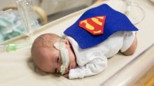 Tiny NICU babies dressed up as superheroes to celebrate Halloween