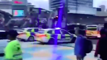 Gang of 100 teenagers bombard police in London with bottles in 'riot' at Westfield shopping centre