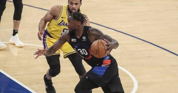 <b>Basket</b> - <b>NBA</b> - En NBA, Julius Randle (New York Knicks) se rappelle au bon souvenir des Lakers
