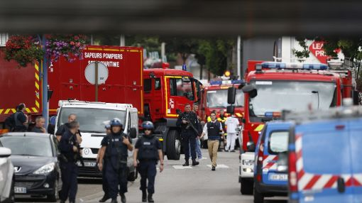 Priest killed in France church hostage-taking