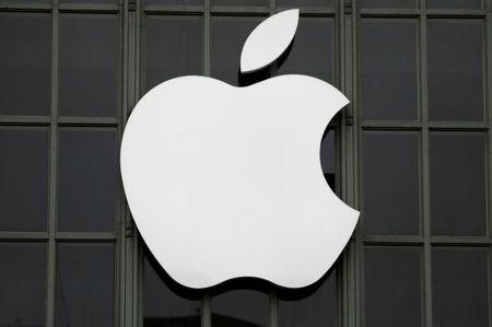 The Apple Inc. logo is shown outside the company's 2016 Worldwide Developers Conference in San Francisco, California, U.S. June 13, 2016. REUTERS/Stephen Lam