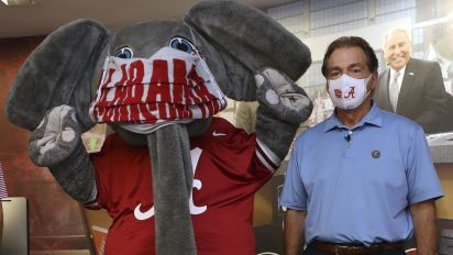 Saban: Players will get virus on campus not fields