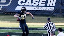 Purdue tight ends focused on run blocking during spring drills