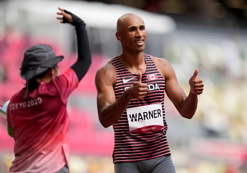 Canada's Warner off to strong start in decathlon; LePage in second after 3 events