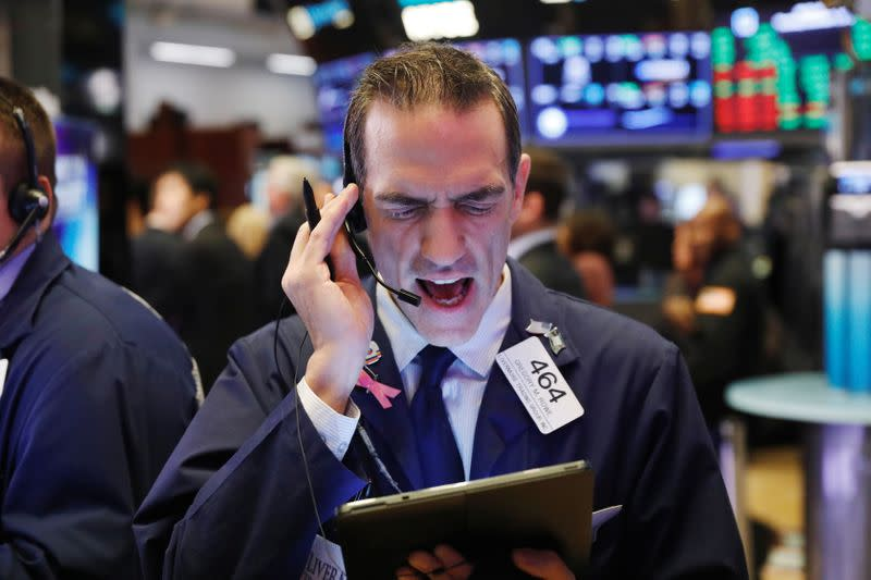Global stocks rally, dollar gains on robust U.S. jobs data