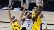 After clinching top seed, Lakers fall to 2-2 in bubble with loss to Thunder
