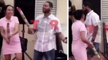 Dad-to-be's sour gender reveal reaction goes viral