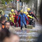 The Latest: France's Macron offers flood victims solidarity
